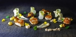 Solway scallops with cauliflower and bits from the local woods