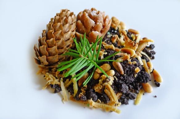 dessert in plantpot