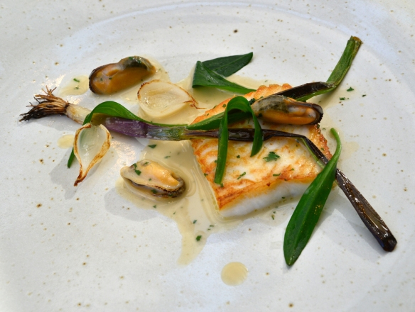Plaice with sea asters , Mussels and Leeks. – Nikon then Lumix.