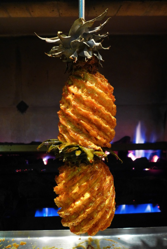 spit roast pineapple